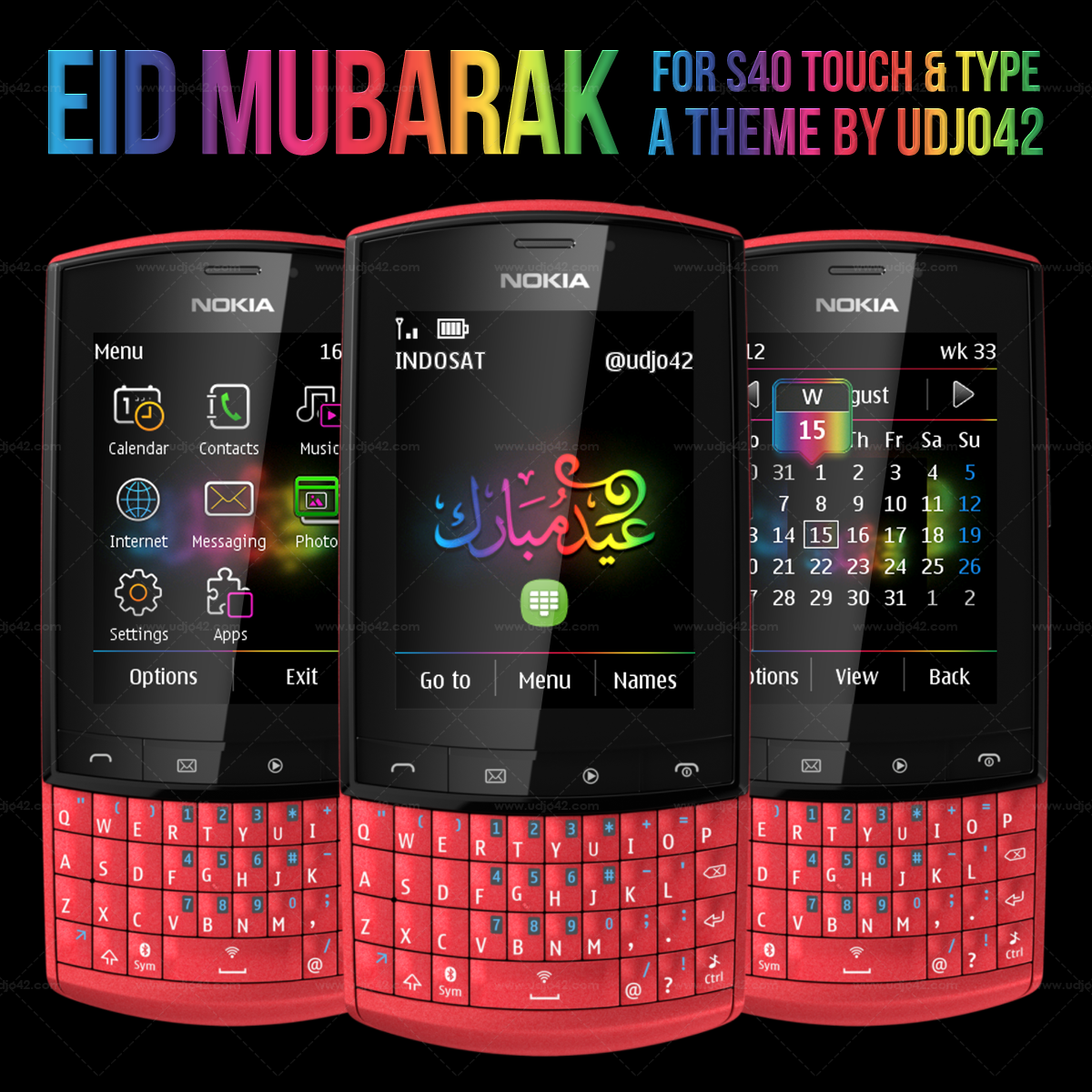 Download Links for Nokia s40 Theme : Eid Mubarak
